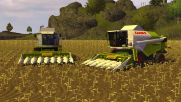 Claas Conspeed cutters with maize animation