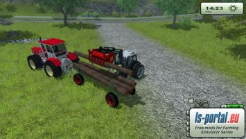 Forest pack - Fendt trailer and round wood LS2013
