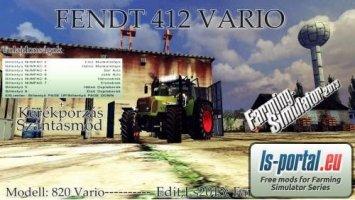 Fendt 412 PloughingSpec