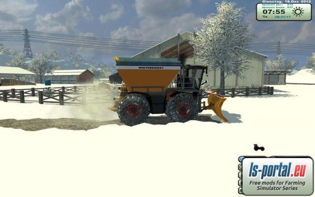 Claas Xerion 3800 SaddleTrac Winter Kommunal v1 1 - LS2013