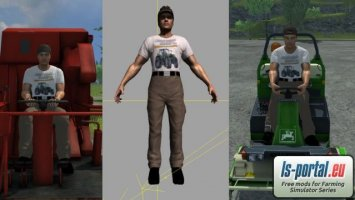 Farmer with LS T Shirt