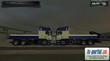 Scania R500 Pritsche and R500 Pritsche with crane