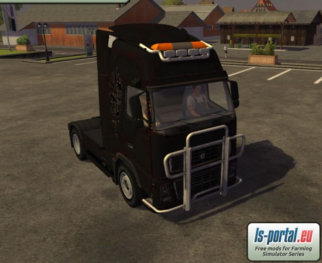 Volvo FH16 Black Mod for Farming Simulator 2013