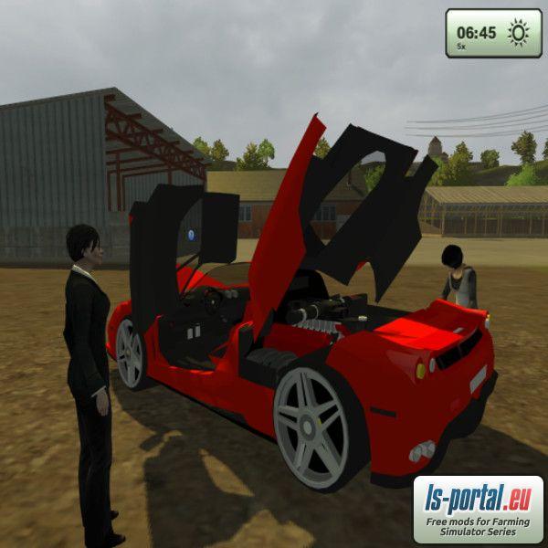FERRARI ENZO Mod for Farming Simulator 2013