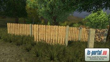 Wooden fence set