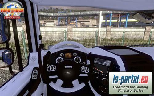 black daf interior ets2 mod mod for euro truck simulator 2 ls portal. Black Bedroom Furniture Sets. Home Design Ideas