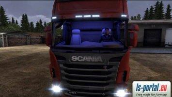 Scania Interior Light Blue Mod