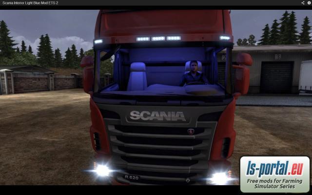 Scania Truck 2018 >> Scania Interior Light Blue Mod - ETS2 Mod | Mod for Euro Truck Simulator 2 | LS Portal
