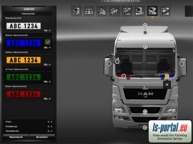 New colors for plates - ETS2 Mod | Mod for Euro Truck Simulator 2 | LS Portal