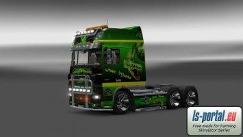 Daf XF Green Mamba skin