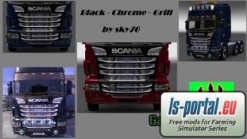 Scania black chrome grill