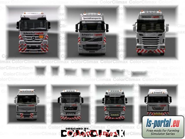 Schwerlast Logistik AG Truck Skin Pack Mod For Euro Truck Simulator 2
