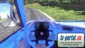 Scania Blue Interior ETS2