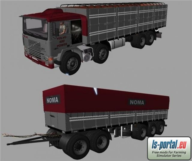 Volvo F12 400 8×4 v2 Mod for Farming Simulator 2013