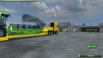 Low loader with truck