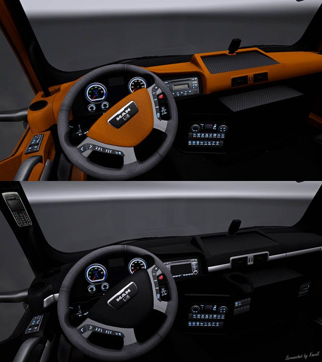 Man Tgx Black Amp Yellow Interior Ets2 Mod Mod For Euro