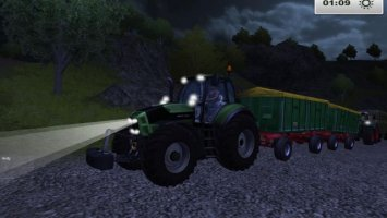 Deutz TTV with trailers ls2013