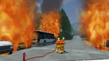 Placeable fire