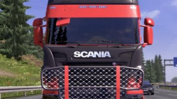 Scania R Grey Red Skin