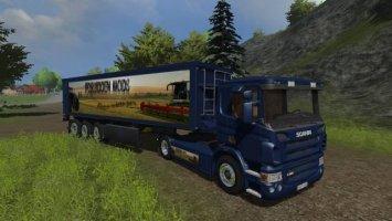 Scania-Kröger-Sattelzug