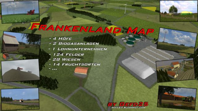Frankenland Map V1.6 Mod for Farming Simulator 2013