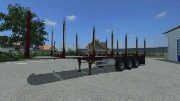 Fliegl wood trailer