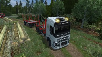 Volvo FH16 2012 Holz with Trailer