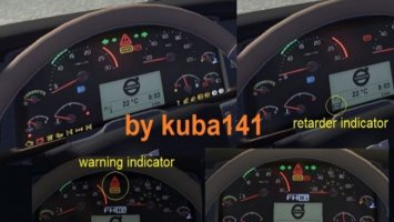 Real dashboard VOLVO FH 2009