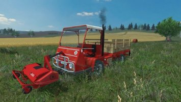 Bucher TRL 2600 Flatbed and Mower LS2013