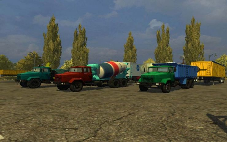 KRAZ AND TRAILERS PACK V2 LS2013