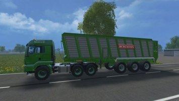 Bergmann HTW85 und MAN TGS AGRAR 6x6 ls15