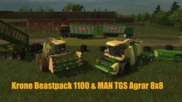 Krone BigX 1100 BeastPack v12.10 Beta LS15