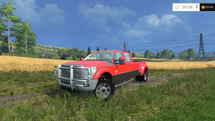 ford f 450 platinum v9 ls15 mod mod for farming. Black Bedroom Furniture Sets. Home Design Ideas