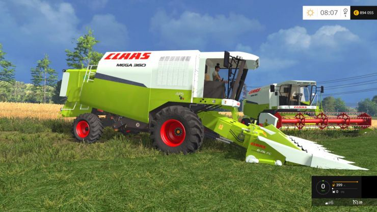 Light Truck Wheels Claas Mega 360 Pack - LS15 Mod | Mod for Farming Simulator ...