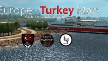 Europe & Turkey Map v2.6 ets2