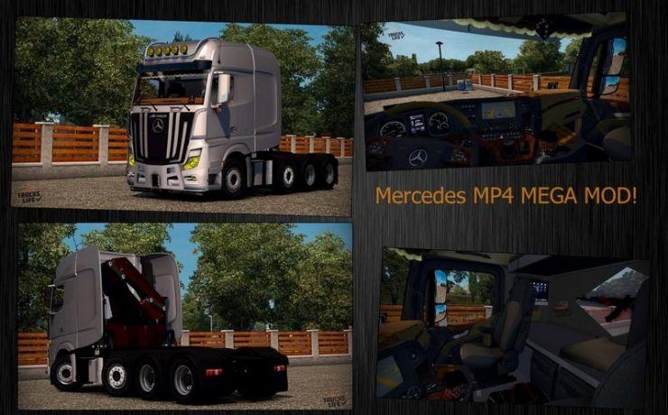 Mercedes MP4 4163 SLT 1.22.X - ETS2 Mod | Mod for Euro Truck Simulator 2 | LS Portal