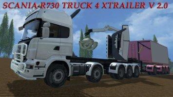 SCANIA R730 TRUCK 4 XTRAILER V 2.0 ls15