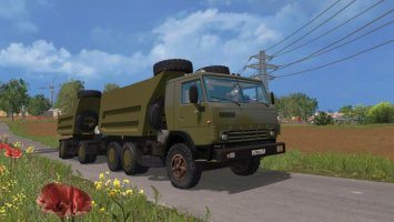 KamAZ 54102 Sovok + Trailer