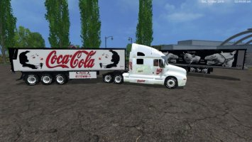 COCACOLA KENWORTH CAT TRUCK + TRAILER12 V1.0 ls15