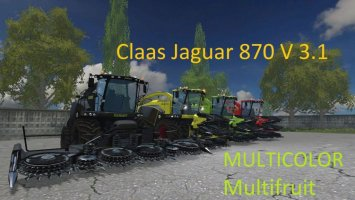 Claas Jaguar 870 MULTICOLOR V 3.1 Multifruit ls15