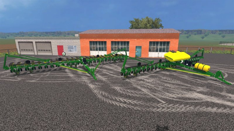 and equipment planting agriculture planters planter john deere seeding drawn