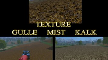 Manure, liquid manure and lime textures ls15