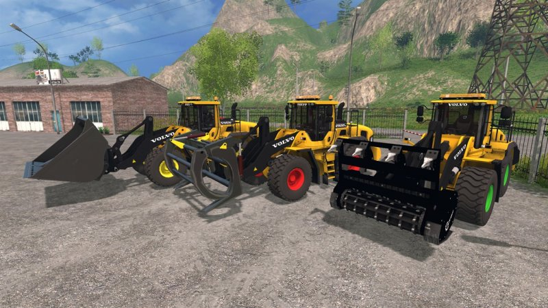 ls volvo bagger schaufel volvo h farming simulator v ls. Black Bedroom Furniture Sets. Home Design Ideas