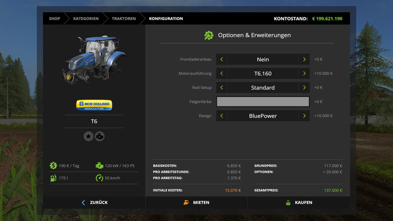 New Holland T6 Tier 4b Fs17 Mod Mod For