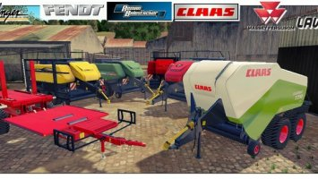 Pack Balestacker and baler attacher v2.0 Fix WheelShader ls15
