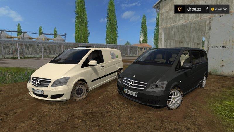 mercedes benz viano v0 8 fs17 mod mod for landwirtschafts simulator 17 ls portal. Black Bedroom Furniture Sets. Home Design Ideas