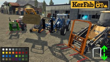 Spike Kerfab With BaleAttacher and All Loader fs17