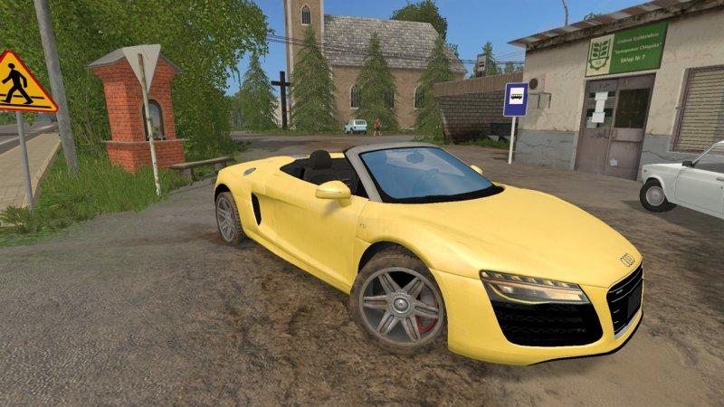 Audi R8 V10 Spyder - FS17 Mod | Mod for Farming Simulator 17