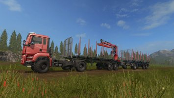 FLIEGL Timberkipper Forst-Anhänger v1.4 fs17