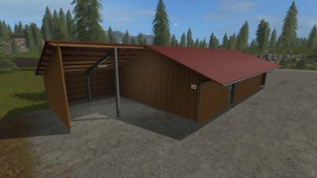 Wolf System Woodchip storage and machinery shed